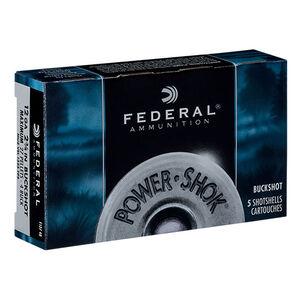 """Federal Power-Shok 12 Gauge Ammunition 250 Rounds 2.75"""" 27 Pellet #4 Buck 1,325 Feet Per Second"""