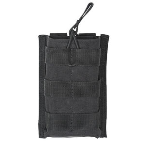 Voodoo Tactical AR-15/M4/M16 Open Top Single Magazine Pouch Bungee Retention System PALS Webbing Compatible Nylon Black