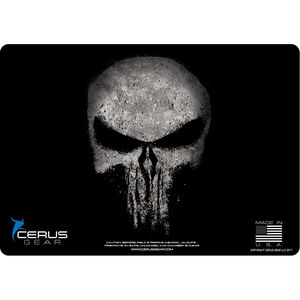 """Cerus Gear Reaper ProMat Handgun Size 12""""x17"""" Synthetic Reaper Skull with Black Distressed Finish"""