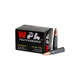 Wolf Performance 7.62x39 Ammunition 20 Rounds 123 Grain Bi-Metal FMJ Steel Case 2362 fps