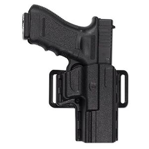 "Uncle Mike's Reflex Belt/Paddle Holster 1911 4""-4.5"" Kydex Right Hand Black 74111"