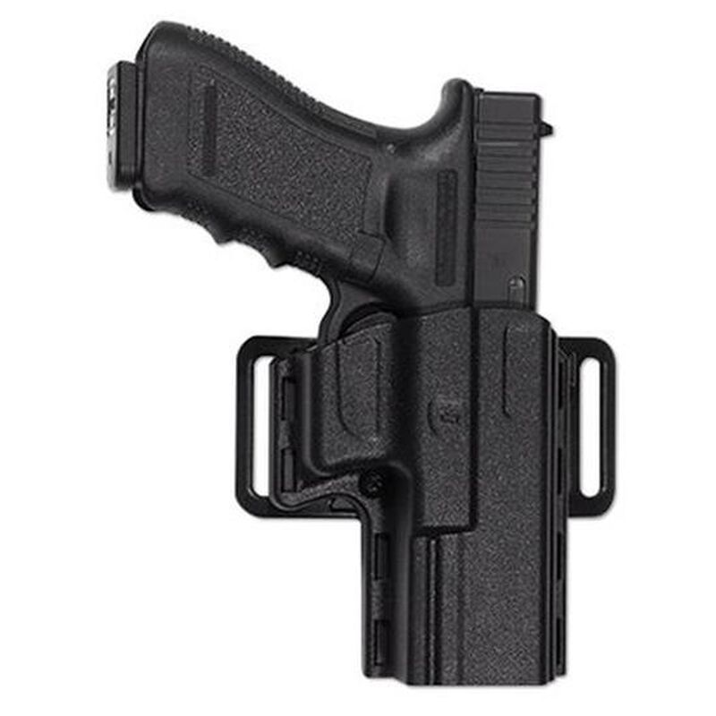 """Uncle Mike's Reflex Belt/Paddle Holster 1911 4""""-4.5"""" Kydex Right Hand Black 74111"""