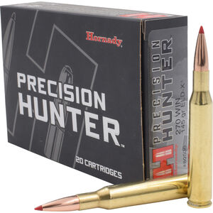 Hornady Precision Hunter .270 Winchester Ammunition 20 Rounds ELD-X 145 Grains 80536