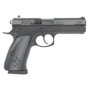 "CZ-USA CZ 97 BD .45 ACP Semi Auto Pistol 4.65"" Barrel 10 Rounds Fixed Luminescent Sights Steel Frame Aluminum Grips Black Finish"