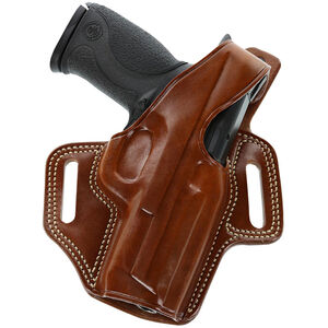 """F.L.E.T.C.H. High-Ride Belt Holster S&W K-Frame & Others 4"""" Barrels Right Hand Leather Tan"""