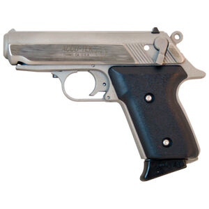 """Accu-Tek AT-380 II Semi Auto Handgun .380 ACP 2.8"""" Barrel 6 Rounds Stainless Steel Black Polymer Grips Stainless Finish AT38101"""