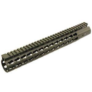 "Leapers UTG PRO AR-15 15"" Super Slim KeyMod Handguard Aluminum OD Green MTU019SSKG"