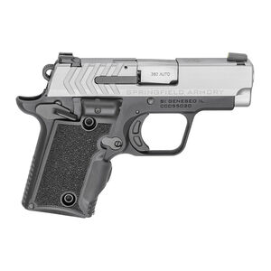 "Springfield Armory 911 .380 ACP Semi Auto Pistol 2.7"" Barrel 7 Rounds Bitone Finish G10 Viridian Green Laser Grips"