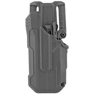BLACKHAWK! T-Series Level 2 Light Bearing Duty Holster Fit GLOCK 17/19/22/23 with Streamlight TLR-7 and 8 Left Hand Polymer Black