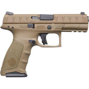"Beretta APX 9mm Luger Semi Auto Pistol 4.25"" Barrel 15 Rounds Polymer Frame FDE"
