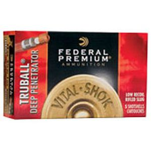 "Federal 12 Gauge Ammunition 5 Rounds 2.75"" 1 oz. Rifled HP Slug"