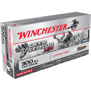 Winchester Deer Season XP .300 AAC Blk 150 Grain Poly Tip 1900 fps 20 Round