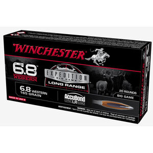 Winchester Expedition Big Game 6.8 Western Ammunition 20 Rounds AccuBond PT 165 Grain S68WLR
