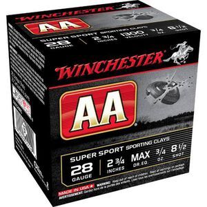 "Winchester AA 28 Gauge Ammunition 2-3/4"" 25 Rounds #8.5 ¾ Ounce Lead Shot 1300fps"