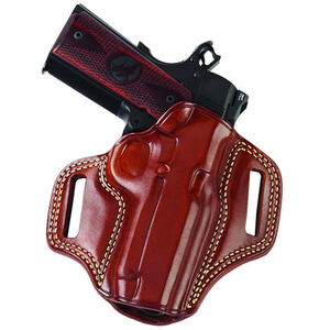 """Galco Combat Master 1911 Officer 3"""" Barrel Belt Holster Right Hand Leather Tan"""