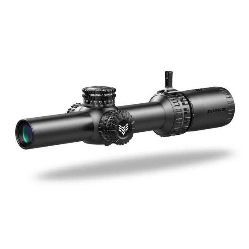 Swampfox Arrowhead 1-6x24 LPVO Riflescope 30mm Tube Gorilla Dot MOA Reticle Red Illuminaton Black