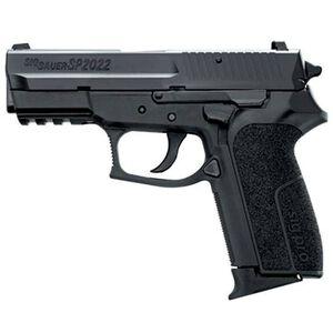 "SIG Sauer SP2022 Semi Auto Handgun 9mm Luger 3.9"" Barrel 10 Rounds Contrast Sights Polymer Frame Rail Nitron Finish SP20229BCA"