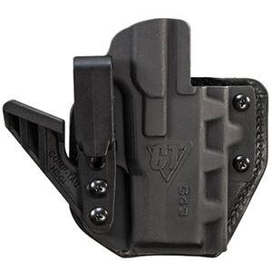 Comp-Tac eV2 Max Holster fits GLOCK 19/19X/23/32 Appendix IWB Right Hand Leather/Kydex Black