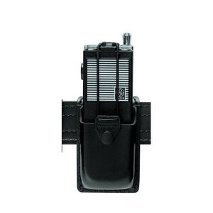 Safariland Model 761 Radio Carrier Safari-Laminate Pouch Size 5 Bungie Cord Tie-down Snap Closure Hardshell STX Plain Black 761-5-41