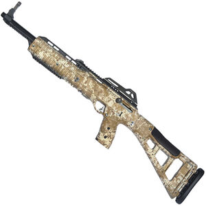 "Hi-Point Hunter Carbine Semi Auto Rifle 9mm Luger 16.5"" Barrel 10 Rounds with 1.5-5x32mm Scope Desert Digital Camo Polymer Stock Black Finish"