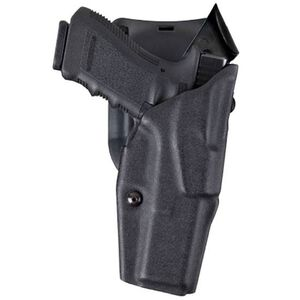 Safariland 6390 GLOCK 21 20 with Tactical Light, ALS Duty Retention Holster, Mid-Ride, Right Hand, STX Plain Black
