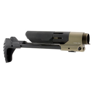 Strike Industries AR-15 PDW Stock Ambidextrous Push Button Deployment Compatible with Standard Bolt Carriers 6061-T6 Tube/Mount Flat Dark Earth SI-STRIKE-PDW-FDE
