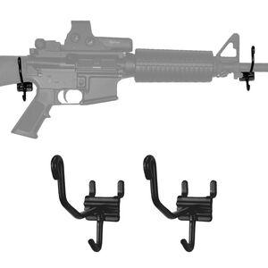 Gun Storage Solutions Horizontal Gun Cradles Slatwall/Pegboard 10 Pack Matte Black