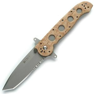 """CRKT M16 Special Forces Folding Knife 3.88"""" Combo Edge Tanto Point AUS 4 Steel Blade Desert Camo Glass Filled Nylon Handle M16-14ZSF"""