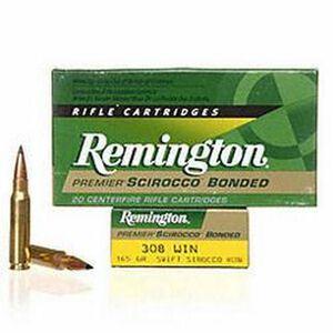 Ammo .308 Win Remington Premier 165 Grain Scirocco Bonded Bullet 2700 fps 20 Rounds PRSC308WB