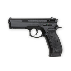 "CZ 75 SP-01 Semi Auto Handgun 9mm 4.6"" Barrel 10 Rounds Rubber Grips Night Sights Black Finish 01152"