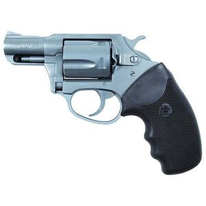 """Charter Arms Undercover Lite Revolver .38 Special +P 2"""" Barrel 5 Round Black Rubber Grip Aluminum Stainless Finish 53820"""