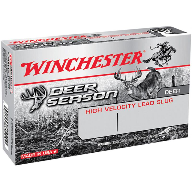 "Winchester Deer Season Slug 12 Gauge Ammunition 5 Rounds 2-3/4"" Slug 1-1/4oz 1600fps"