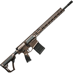 "Daniel Defense DD5v4 6.5 Creedmoor AR Style Semi Auto Rifle 18"" Barrel 20 Rounds 15"" M-LOK Handguard Collapsible Stock Mil Spec + Brown"