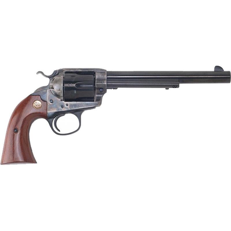 """Cimarron Bisley Model Revolver 357 Mag 7.5"""" Barrel 6 Rounds Color Case Hardened Frame Walnut Grip Blued"""