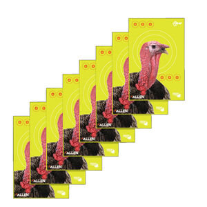 "Allen Company EZ Aim Non-Adhesive Turkey Target 12""x18"" Yellow with Turkey Head 8 Pack"