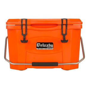 Grizzly Coolers Grizzly 20 Rotomolded 20 Quart Cooler Orange/Orange