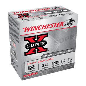 "Winchester Super X 12 Gauge Ammunition 25 Rounds, 2.75"", 1.25oz. #7"