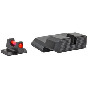 Trijicon Fiber Optic Sight Set Fits S&W M&P Shield/M&P Shield M2.0 Red Fiber Front/Blacked Out Rear Steel Housing Matte Black Finish