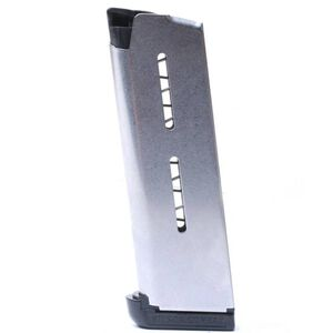 Wilson Combat 1911 Officer/Defender Compact 7 Round Magazine .45 ACP Standard Plastic Base Pad Stainless Steel Natural Finish
