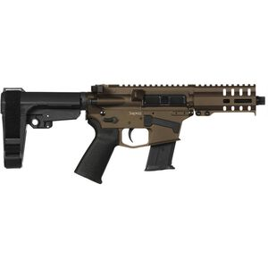 """CMMG Banshee 300 Mk57 5.7x28mm AR-15 Semi Auto Pistol 5"""" Barrel 20 Rounds RML4 M-LOK Handguard CMMG Micro/CQB RipBrace Midnight Bronze Finish"""