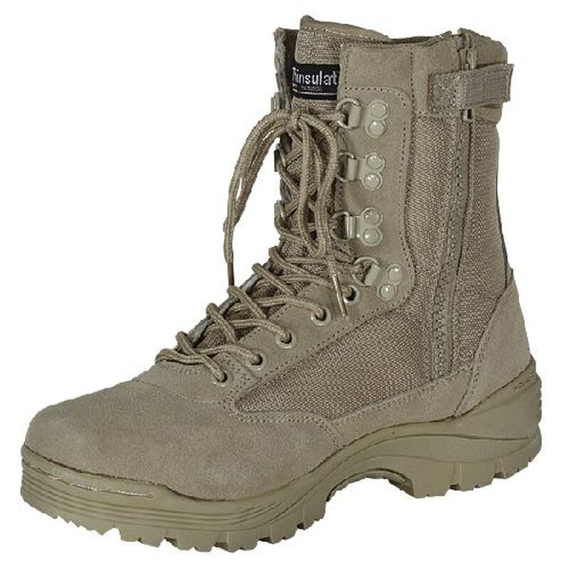 "Voodoo Tactical 9"" Tactical Boots Nylon/Leather Size 8 Regular Khaki Tan 04-837883008"