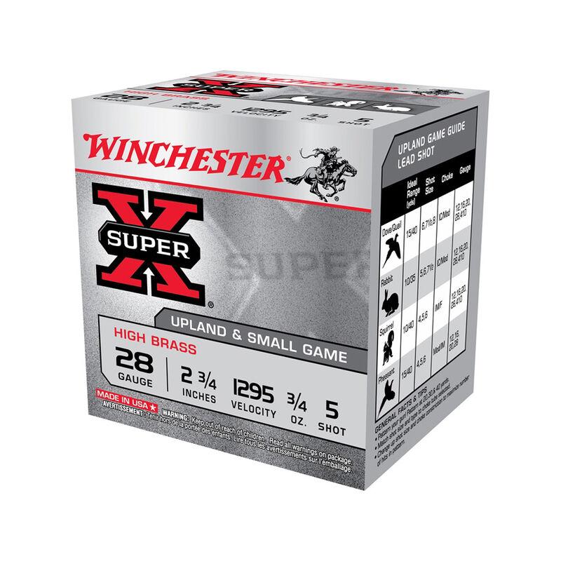 """Winchester Super-X 28 ga 2-3/4"""" #5 Shot 3/4oz 250 Rnd Case"""