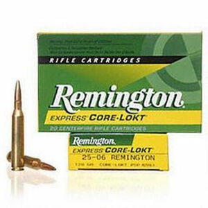 Remington Core-Lokt .25-06 Remington Ammunition 20 Rounds 120 Grain PSP 2990fps