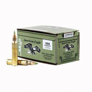 Federal American Eagle 5.56 NATO Ammunition XM855 FMJ 62 Grains