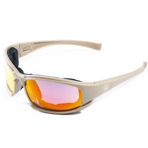 Hackett Equipment Tactical Shooting Glasses/Goggles 4 Lens Colors Desert Tan Frame