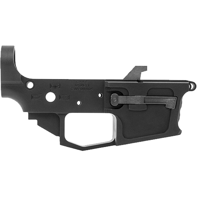 New Frontier C-45 Stripped Lower Receiver .45 ACP Multi-Caliber Marked Uses GLOCK Style Magazines Billet Aluminum Black