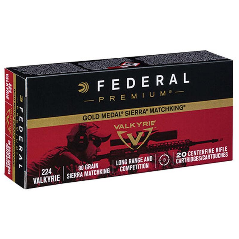 Federal .224 Valkyrie Ammunition 20 Rounds MK-BTHP 90 Grains