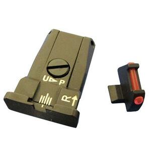 Beretta Fiber Optic Adjustable Sight Set 92A1/96A1 1-Dot Configuration Steel Housing Matte Black