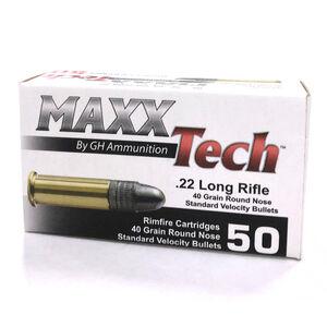 MAXXTech .22 LR Ammunition 50 Rounds LRN 40 Grains PTG22B
