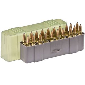 Plano Medium Rifle Ammunition Case .243 Win/.308 Win/.35 Rem/.45-70 Gov 20 Count Dark Gray/Translucent Green